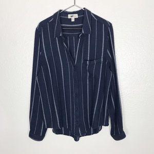 Anthropologie Cloth & Stone Stripe Button Down XL